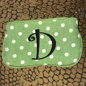 "Handbags - ""D"" Monogrammed Coin Pouch Wallet"